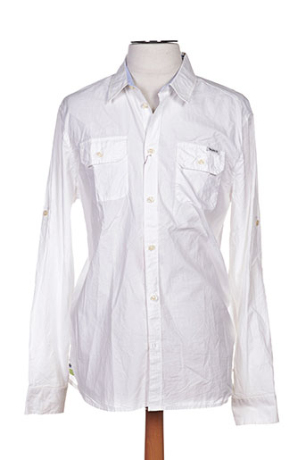 pepe jeans chemises homme de couleur blanc