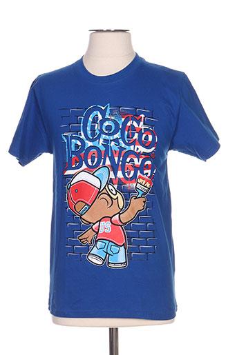 coco bongo t-shirts homme de couleur bleu