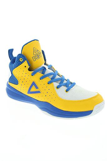 peak chaussures homme de couleur jaune