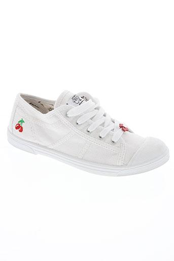 le temps des cerises chaussures fille de couleur blanc