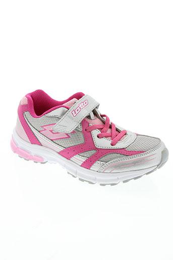 lotto chaussures fille de couleur rose
