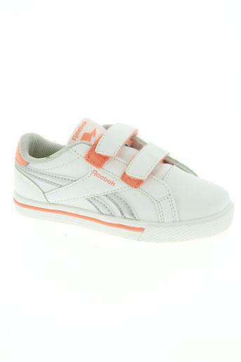 reebok chaussures fille de couleur orange