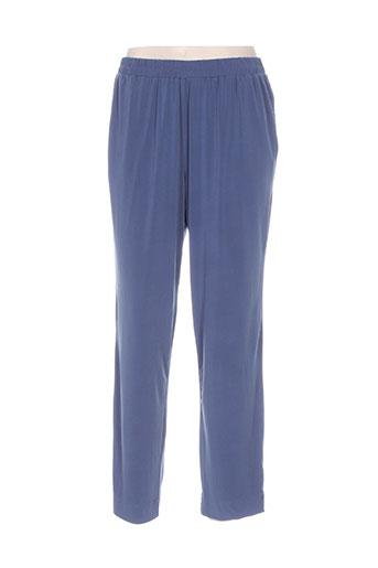 sempre pantalons femme de couleur bleu