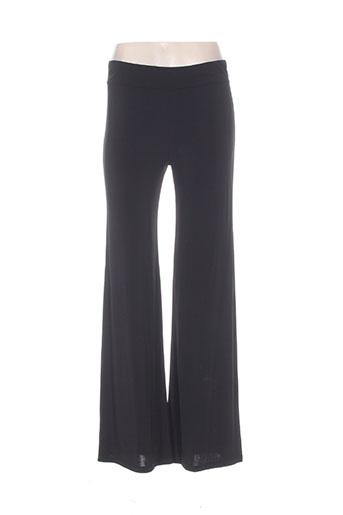 b.yu pantalons femme de couleur noir
