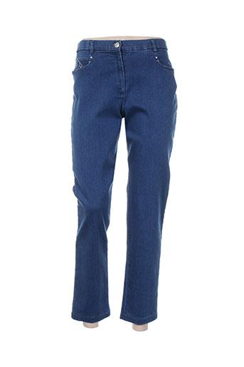 christine laure jeans femme de couleur bleu