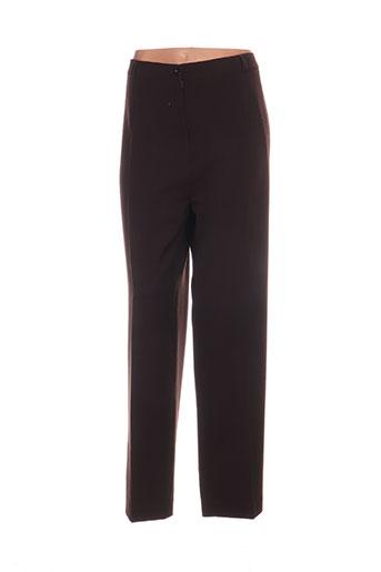 elssa pantalons femme de couleur marron