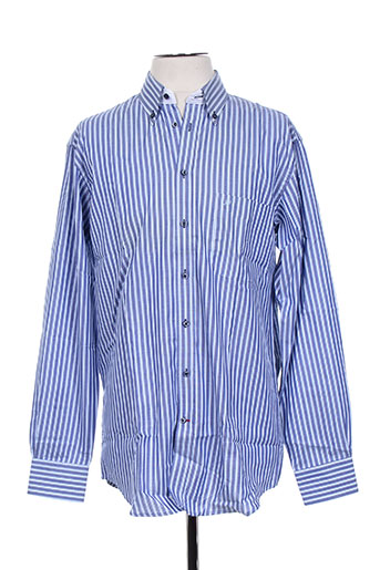 jean chatel chemises homme de couleur bleu