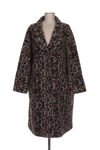 masai manteaux femme de couleur marron