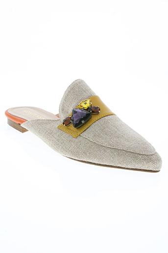 kontessa chaussures femme de couleur beige