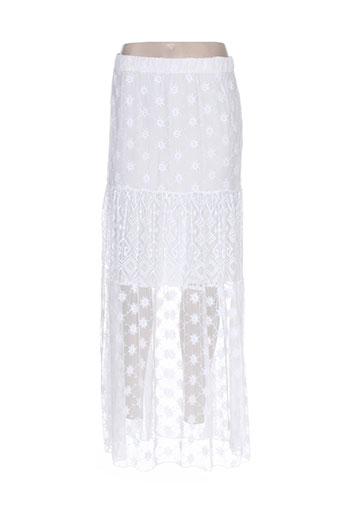desigual jupes femme de couleur blanc