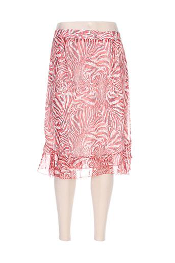 parisiennes jupes femme de couleur rouge