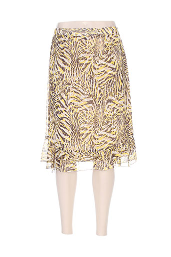 parisiennes jupes femme de couleur jaune