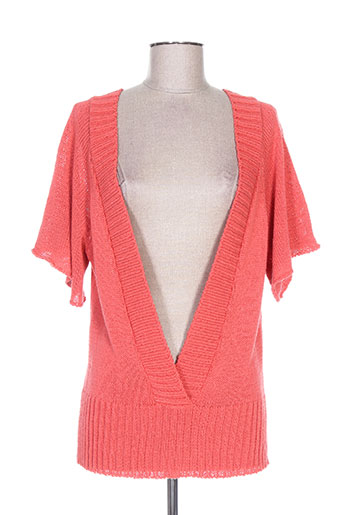 Pull col V rose COTE ANGLAISE pour femme