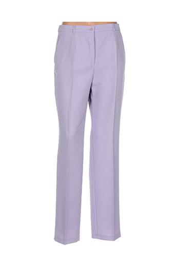 brandtex pantalons femme de couleur violet