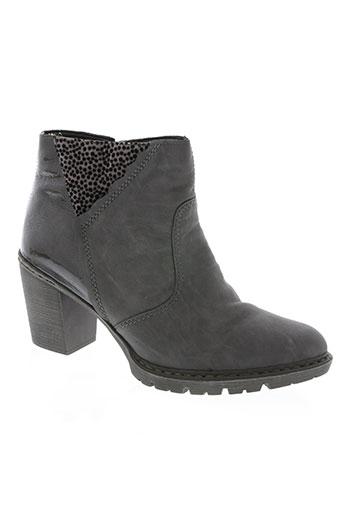 rieker chaussures femme de couleur gris