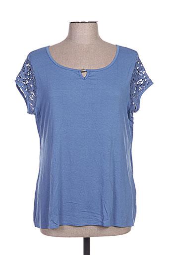 divas t-shirts femme de couleur bleu