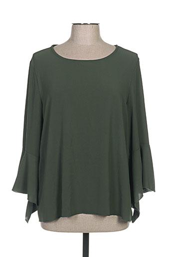 mivite chemises femme de couleur vert