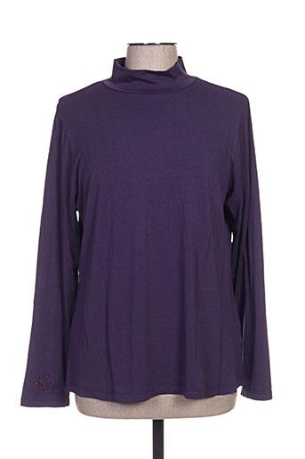 giani f t-shirts femme de couleur violet