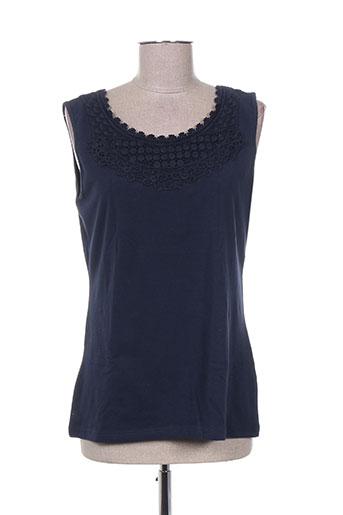 enjoy t-shirts femme de couleur bleu