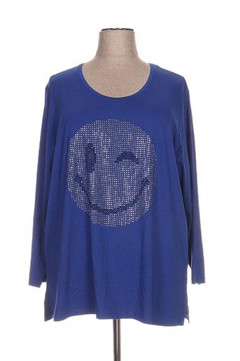 kjbrand t-shirts femme de couleur bleu