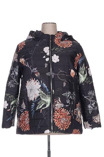 carisal manteaux femme de couleur noir