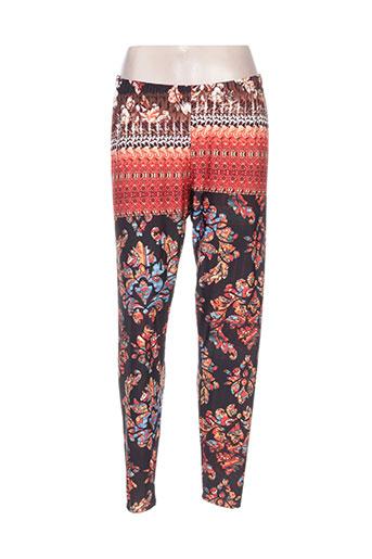 mat. pantalons femme de couleur orange