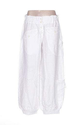 completo pantalons femme de couleur blanc