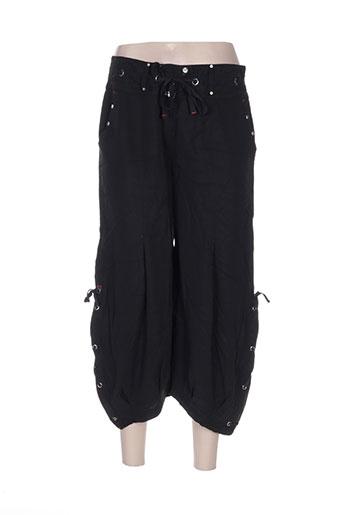 creative by pantalons femme de couleur noir