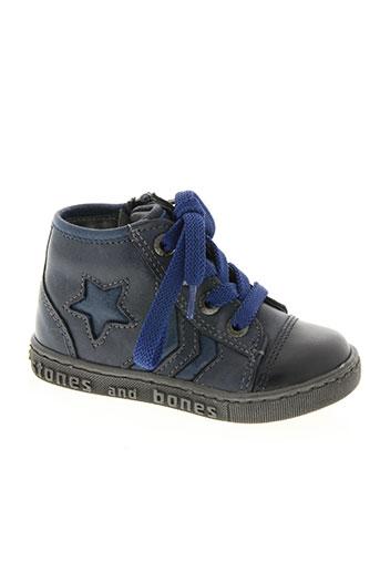 stones and bones chaussures garçon de couleur bleu