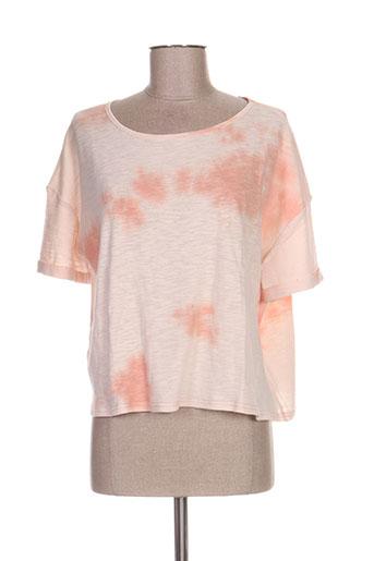 fine collection t-shirts femme de couleur orange