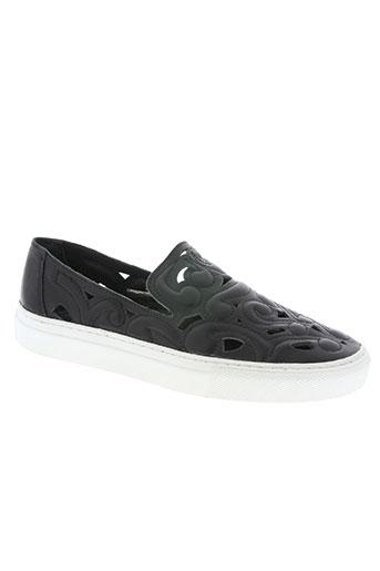 libre comme l'air chaussures femme de couleur noir