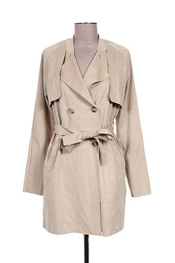 ichi manteaux femme de couleur beige