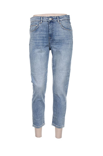 ichi jeans femme de couleur bleu