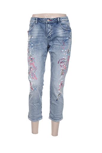 fracomina jeans femme de couleur bleu