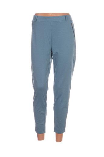 ichi pantalons femme de couleur bleu