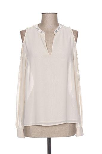fracomina chemises femme de couleur beige