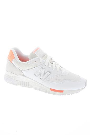new balance chaussures femme de couleur blanc
