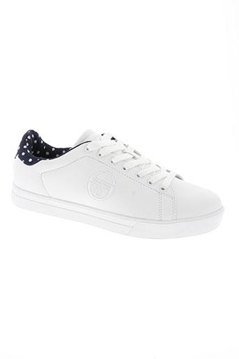 sergio tacchini chaussures femme de couleur blanc