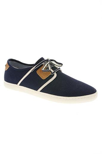 armistice chaussures homme de couleur bleu