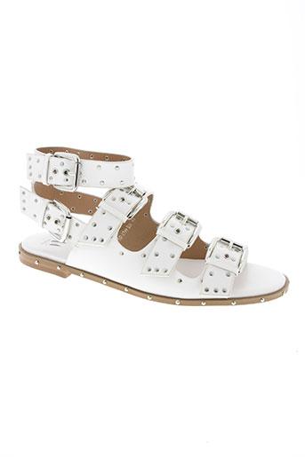 vanessa wu chaussures femme de couleur blanc