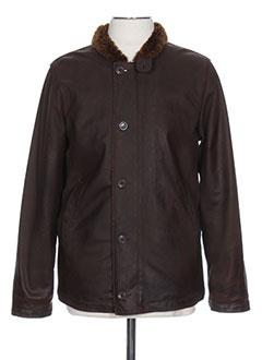 Manteau court marron REPLAY pour femme