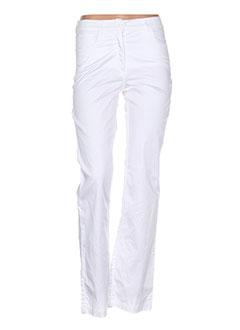 Pantalon casual blanc PAUL BRIAL pour femme