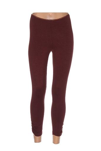 cnb pantalons femme de couleur rouge