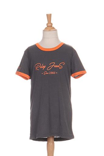 relay jeans t-shirts garçon de couleur orange