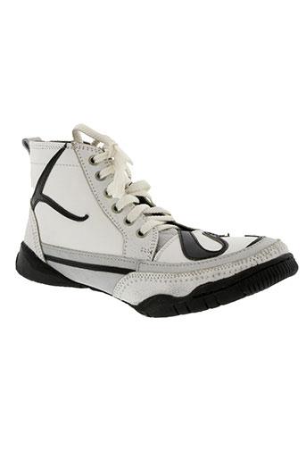 la marine chaussures femme de couleur blanc