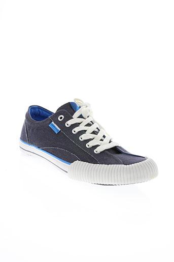 hungaria chaussures homme de couleur bleu