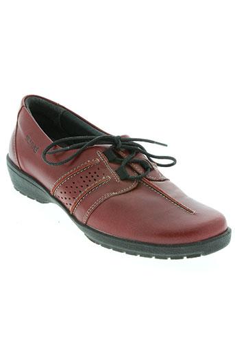 suave chaussures femme de couleur rouge