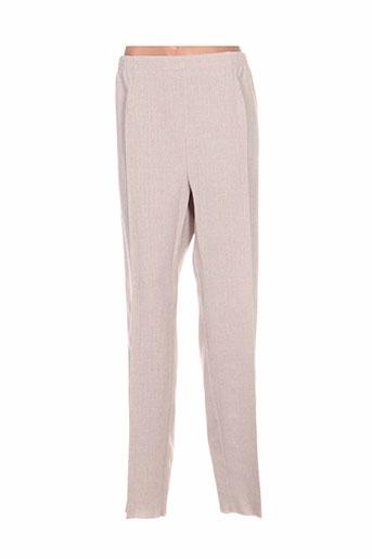 gevana pantalons femme de couleur beige