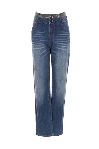Jeans coupe slim bleu DESIGUAL pour fille