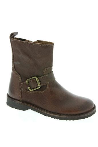 bisgaard chaussures fille de couleur marron